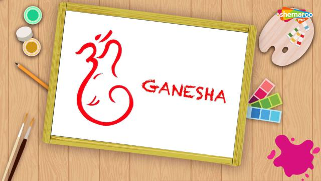 Easy Ganesha Drawing For Kids - Part-2