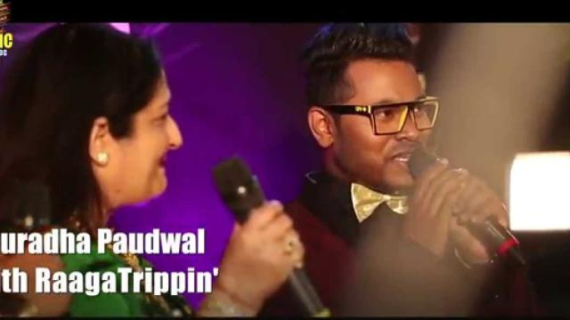 """Anuradha Paudwal sings 'Dheere Dheere' at the Red Carpet of #MMAwards 