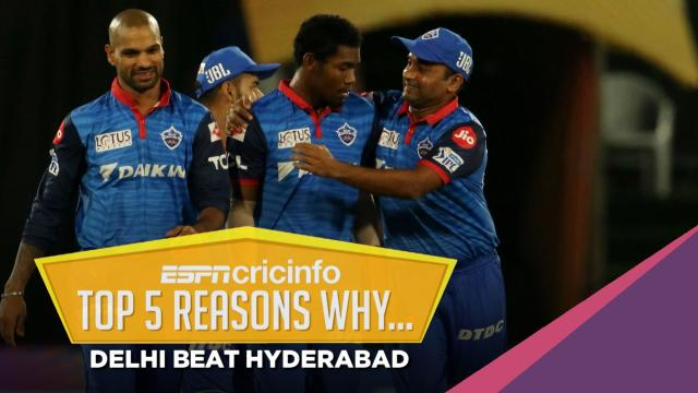 Five reasons why Delhi Capitals won against Sunrisers Hyderabad