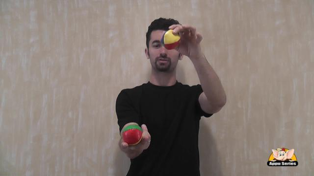 Juggle Using two balls with one hand