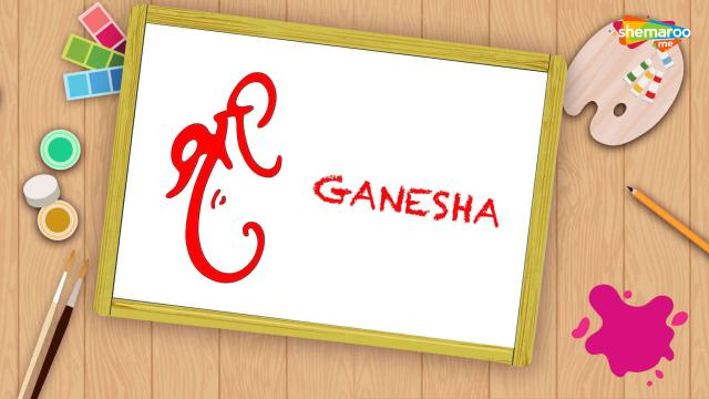 Easy Ganesha Drawing For Kids - Part-3