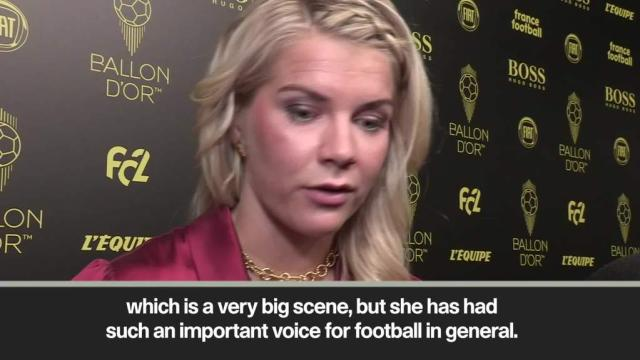 Rapinoe is an important voice for football - Hegerberg