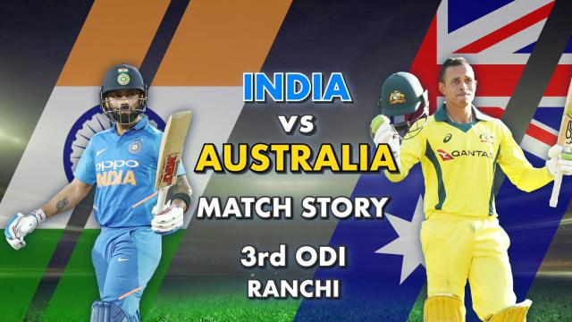 India vs Australia, 3rd ODI: Match Story